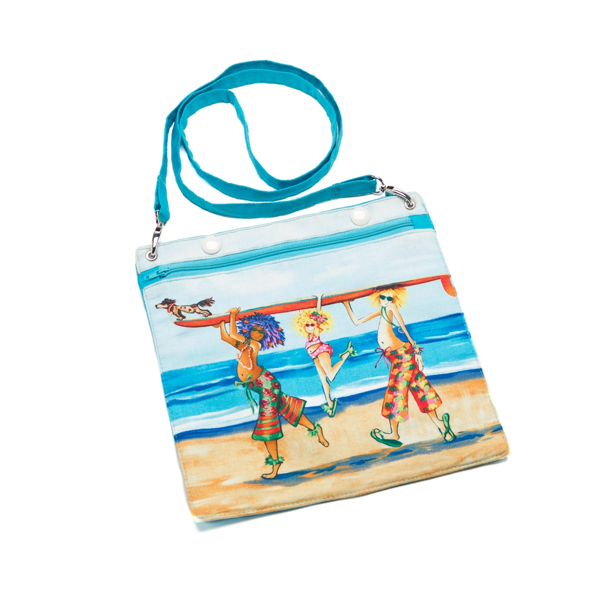 Beach Bag Set Summertime Blue Detachable Pocket