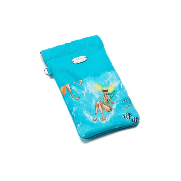 Beach Bag Set Summertime Blue Smart phone / MP3 Player / Sunglass case