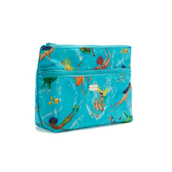Beach Bag Set Summertime Blue Twin Zip Pouch