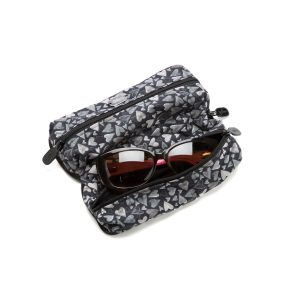Double Glasses Case Hearts 2 You Open Outside with Glasses