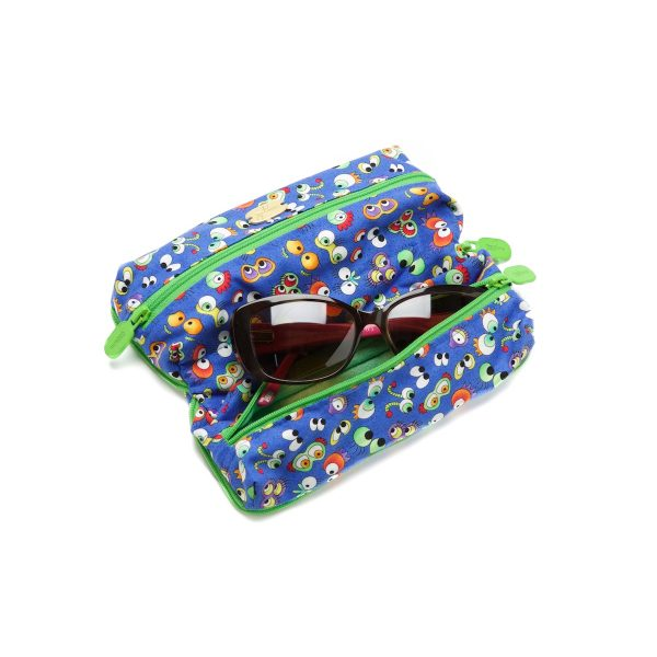 Double Glasses Case Wild Things Open Outside with Glasses