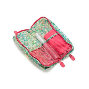Double Glasses Case Sweet Pea Open Inside with cleaner