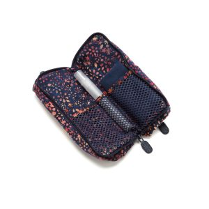 Double Glasses Case Moonstruck Open Inside with cleaner
