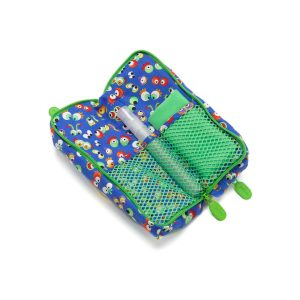 Double Glasses Case Wild Things Open Inside with cleaner