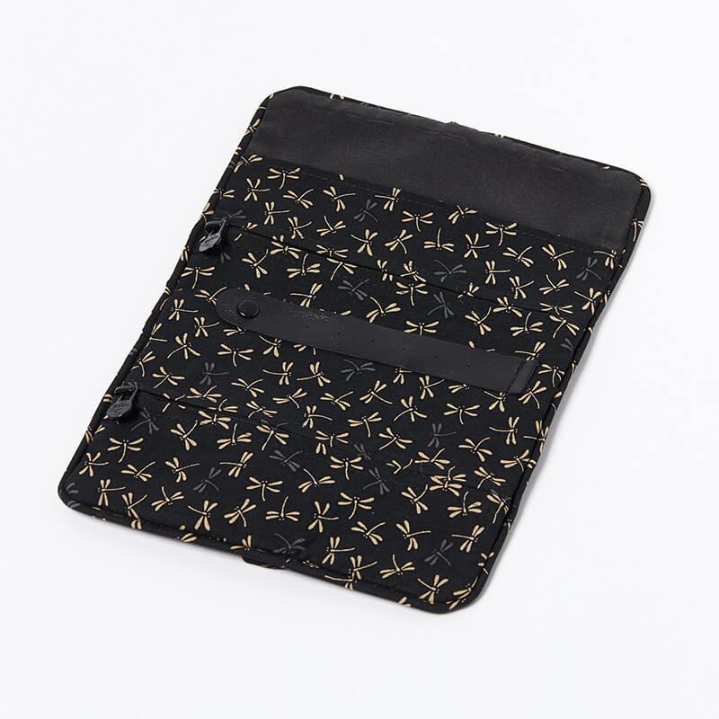 Jewellery-Roll-Black-Dragonfly-Open