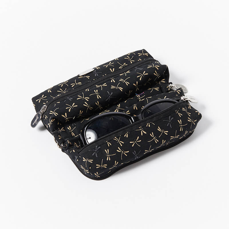 Multi-Purpose-Pouch-Black-Dragonfly-With-Glasses