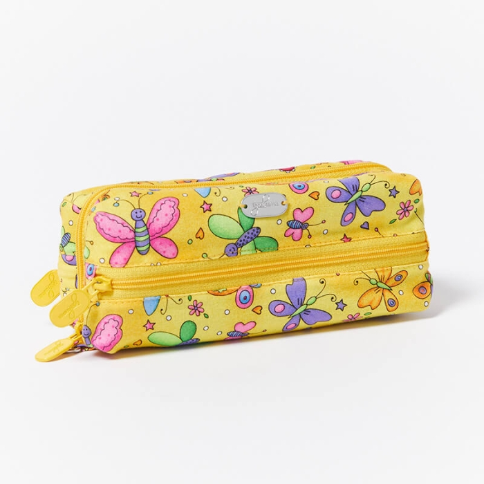 Multi-Purpose-Pouch-Butterflies-Yellow-Closed