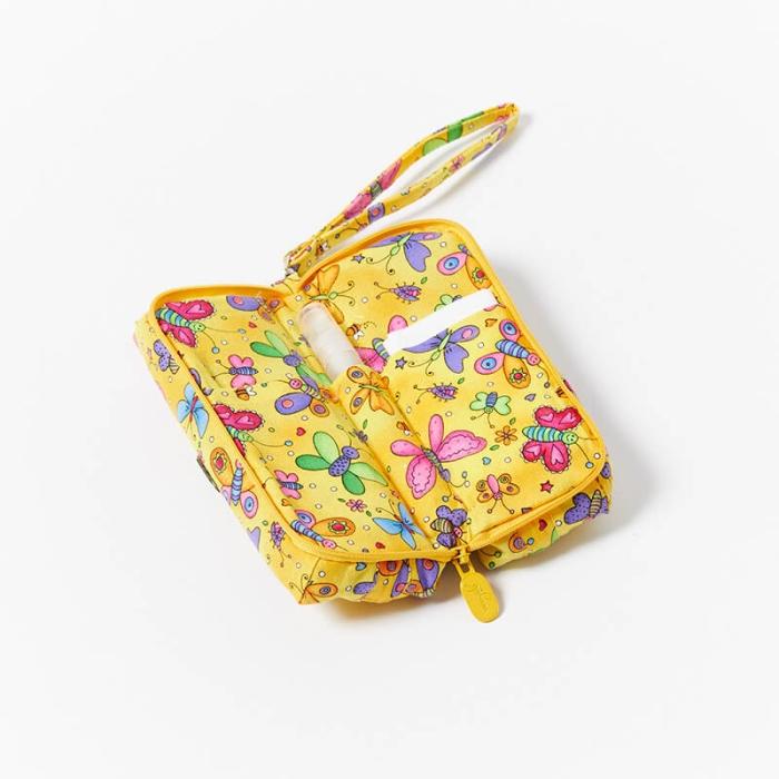 Multi-Purpose-Pouch-Butterflies-Yellow-Open