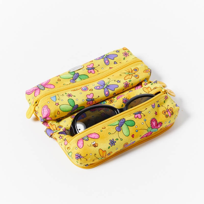 Multi-Purpose-Pouch-Butterflies-Yellow-With-Glasses