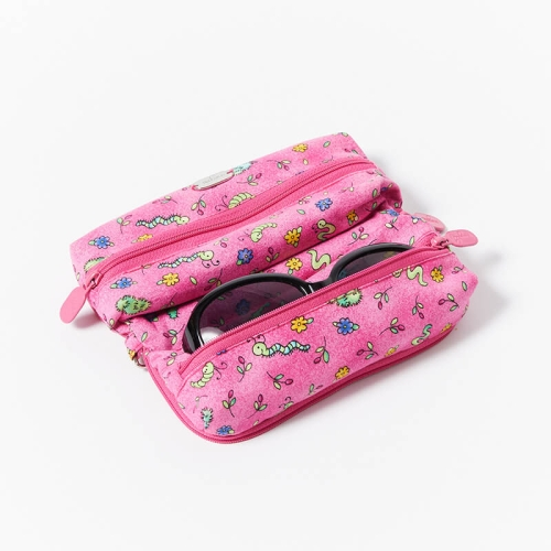 Multi-Purpose-Pouch-Pink-Bugs-With-Glasses
