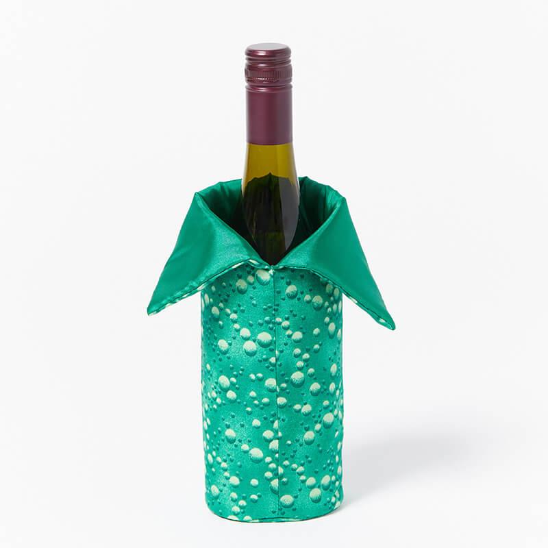 Wine-Bottle-Bag-Green-Dots