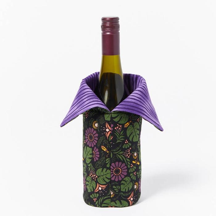 Wine-Bottle-Bag-Purple-Daisy
