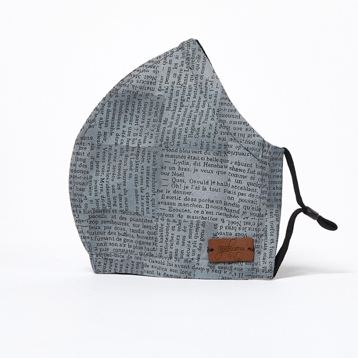 Fitted-Face-Mask-Newsprint-Grey