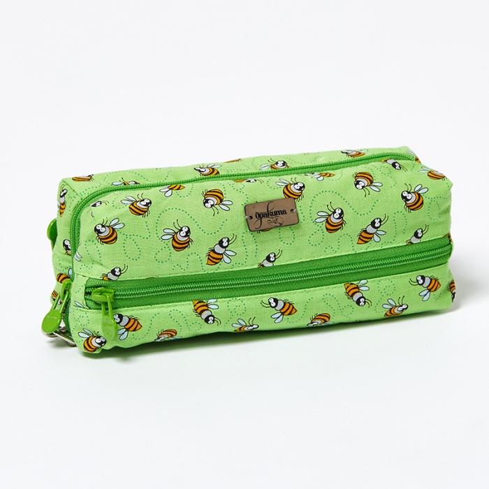 Multi-Purpose-Pouch-Lime-Bees-Closed
