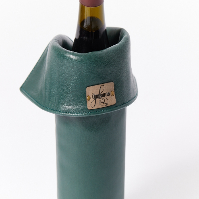 Leather-Wine-Bottle-Cover-Forest-Back-Close-Up
